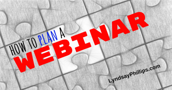 how to plan a webinar
