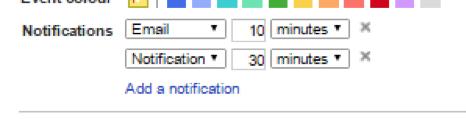 google calendar features