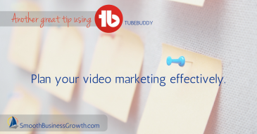 Planning Video Marketing with TubeBuddy