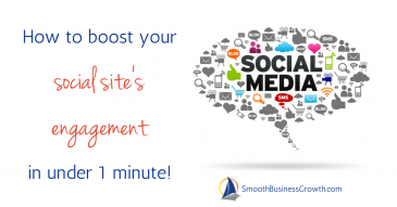 How to boost your social site's engagement in under 1 minute!
